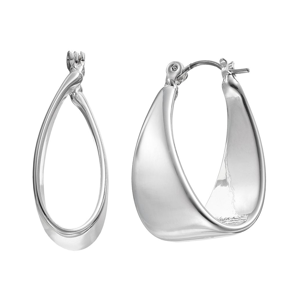Dana Buchman Folded Hoop Earrings