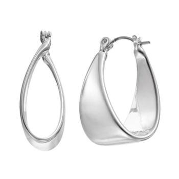 Dana Buchman Folded Hoop Earrings