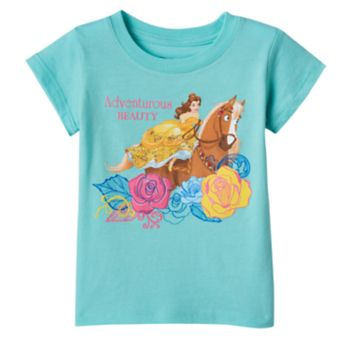 "Disney's Beauty & The Beast Belle Toddler Girl ""Adventurous Beauty"" Tee"