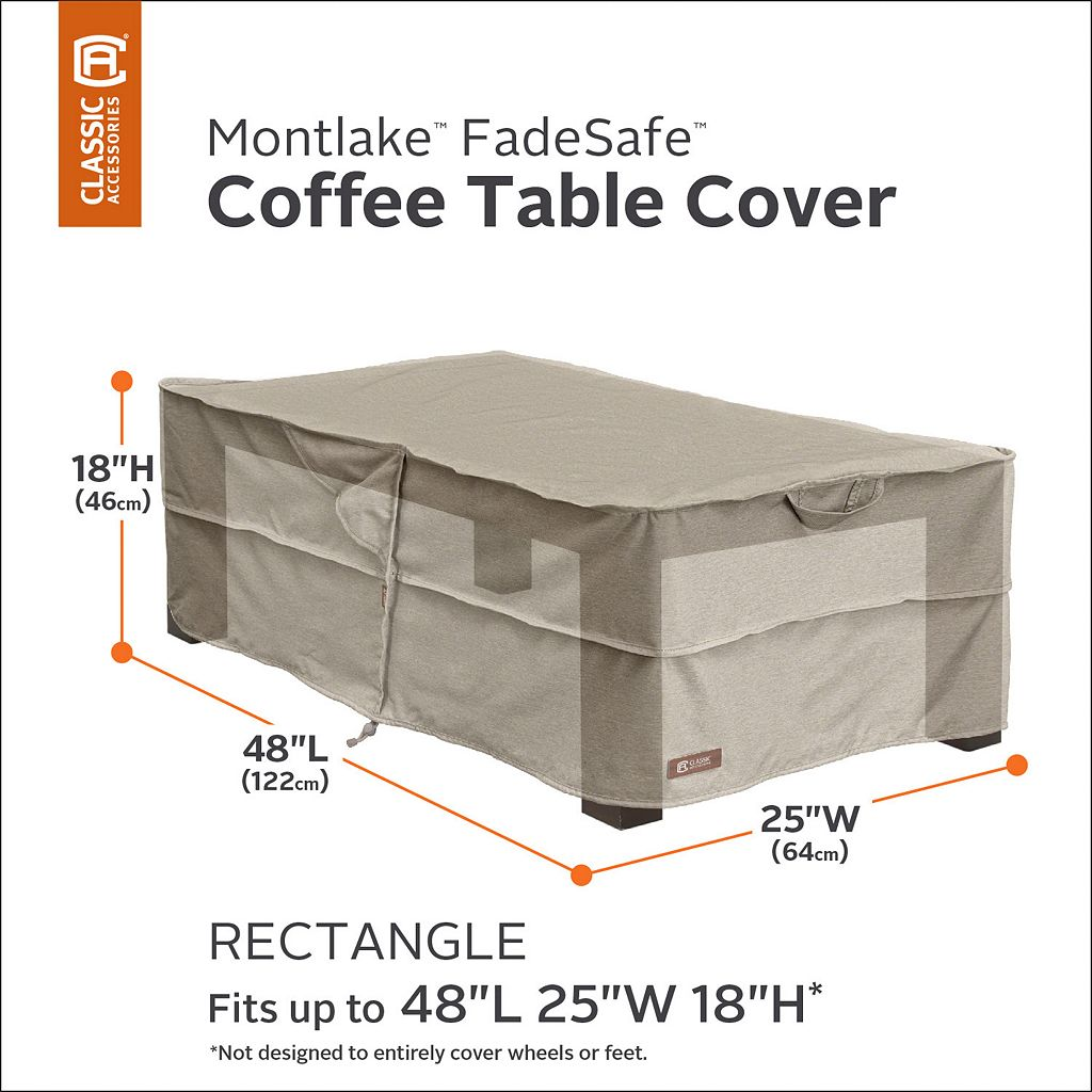 Montlake Rectangular Patio Coffee Table Cover