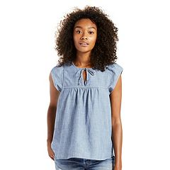 Women's Levi's Denim Babydoll Blouse