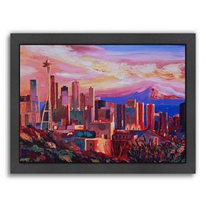 "Americanflat ""Seattle 3"" Framed Wall Art"