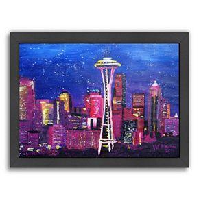 "Americanflat ""Seattle Stars"" Framed Wall Art"