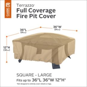 Terrazzo Large Square Fire Pit Cover