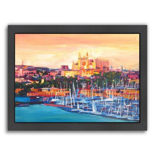"Americanflat ""Spain Balearic Island"" Framed Wall Art"