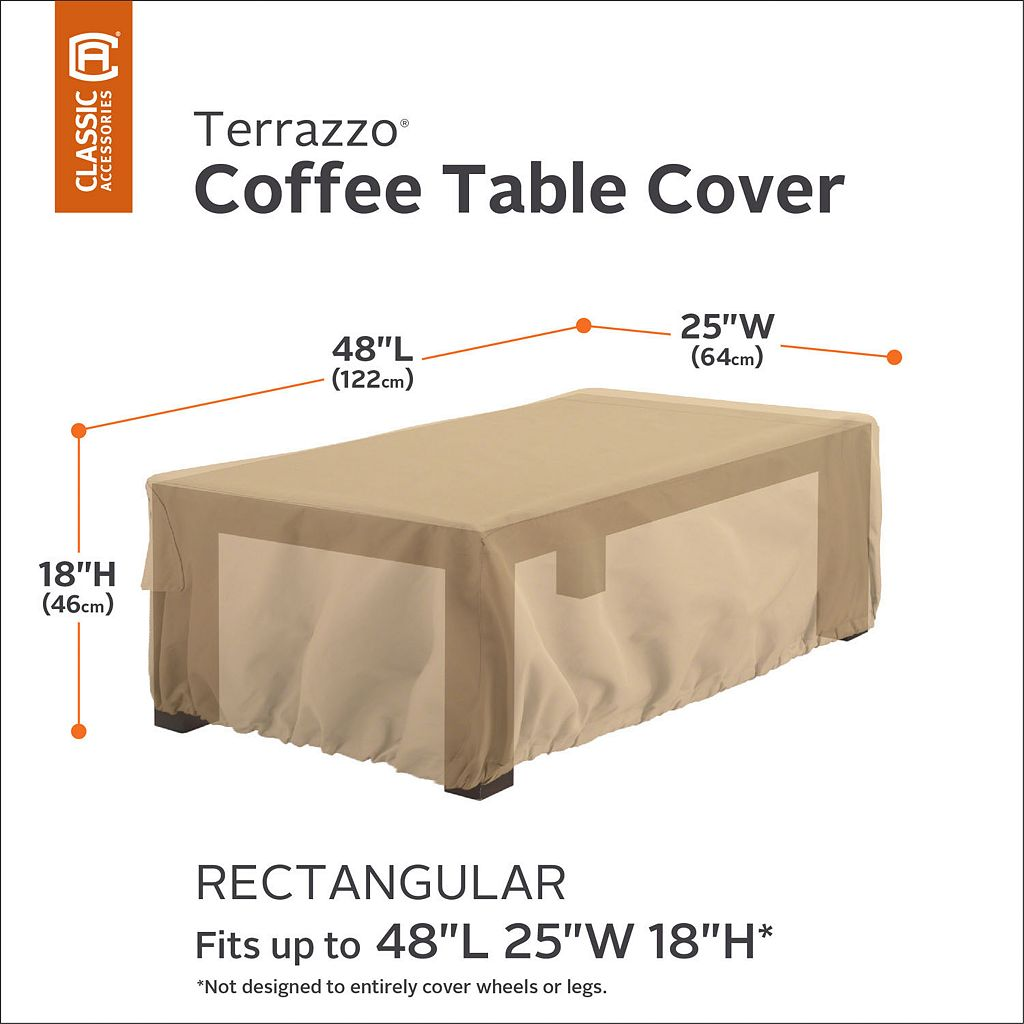 Terrazzo Rectangular Patio Coffee Table Cover