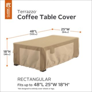 Terrazzo Rectangular Patio Coffee Table Cover