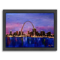 Americanflat 'St Louis Arch Gateway At Sunset' Framed Wall Art