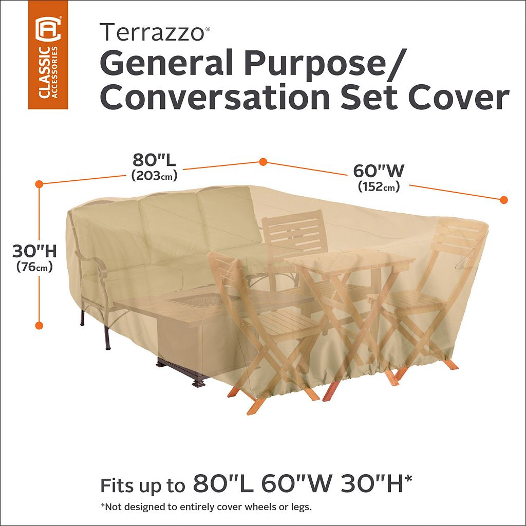 Terrazzo Patio Furniture Set Cover