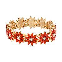 Peach Flower Stretch Bracelet