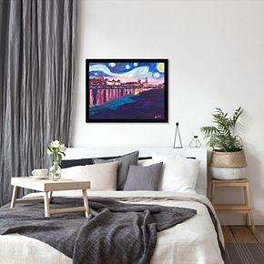 "Americanflat ""Starry Night In Dresden"" Framed Wall Art"