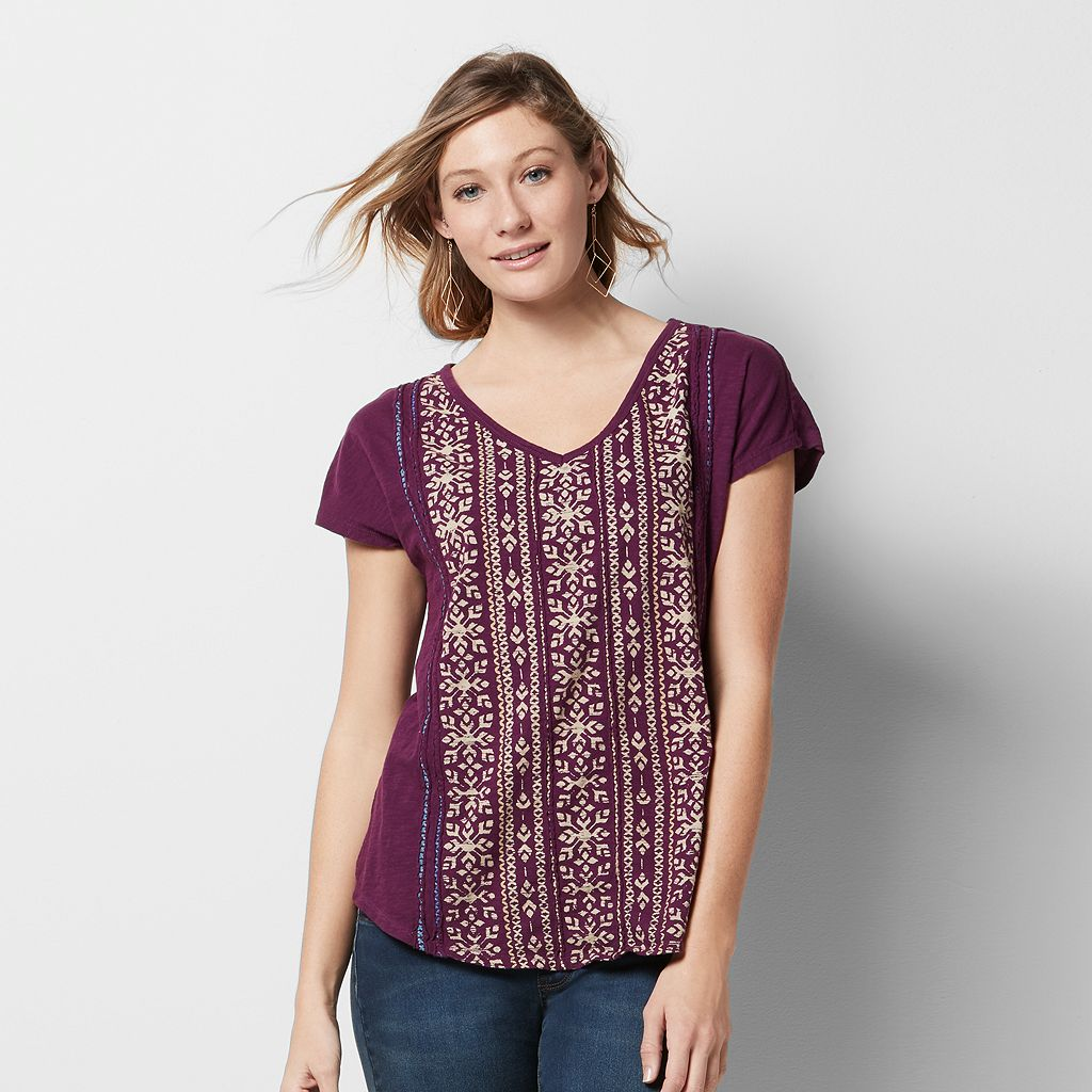 Women's SONOMA Goods for Life™ Embroidered Graphic Tee