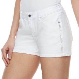 Women's Jennifer Lopez Beaded Jean Shorts