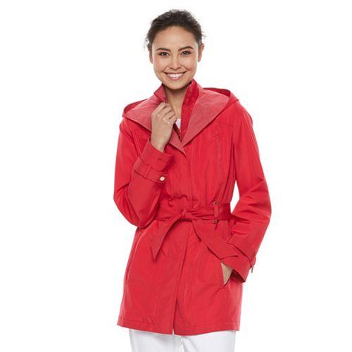 Women's Braetan Hooded Shawl Collar Rain Jacket