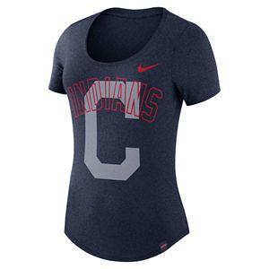 Women's Nike Cleveland Indians Burnout Dri-FIT Tee