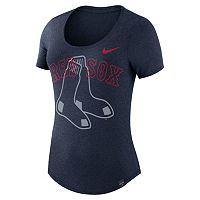 Women's Nike Boston Red Sox Burnout Dri-FIT Tee