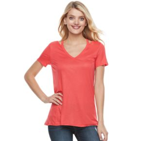 Women's Juicy Couture Cutout Glitter Tee