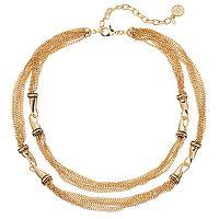 Dana Buchman Chain Link Double Strand Station Necklace