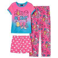 Girls 4-16 Jelli Fish Graphic Tee, Pants & Shorts Pajama Set