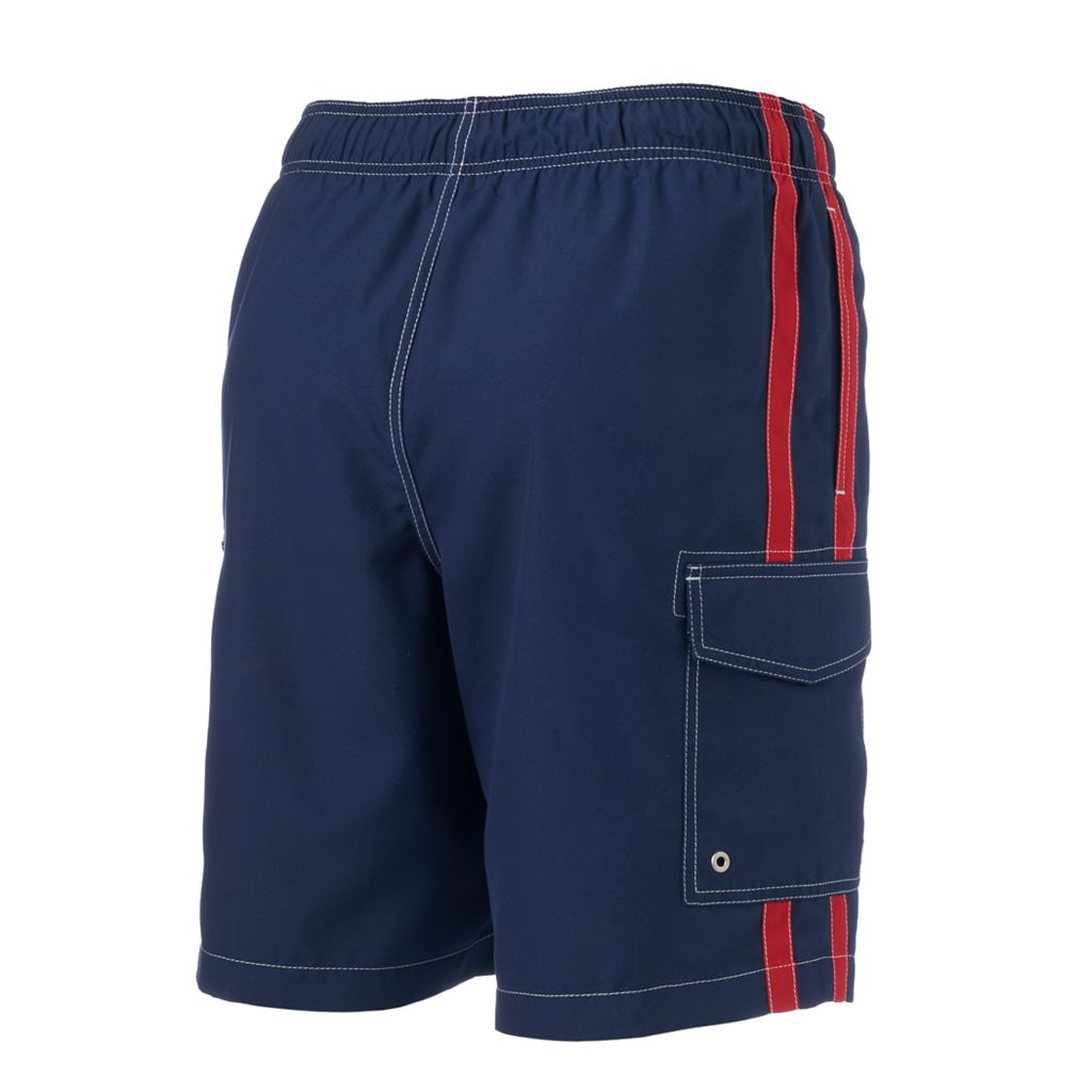 Big & Tall SONOMA Goods for Life™ Side-Striped Microfiber Swim Trunks
