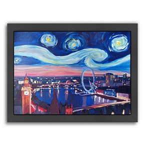 "Americanflat ""Starry Night In London"" Framed Wall Art"