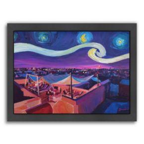 "Americanflat ""Starry Night In Marrakech"" Framed Wall Art"
