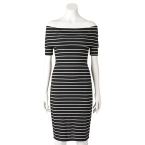 Women's Juicy Couture Off-the-Shoulder Sheath Dress