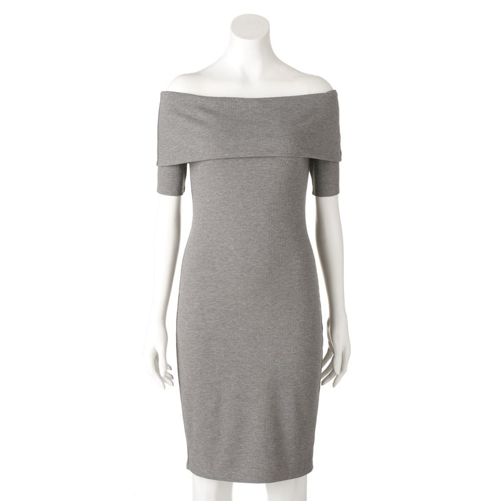 Women's Juicy Couture Off-the-Shoulder Sheath Dress