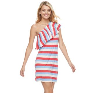 Women's Juicy Couture One-Shoulder Striped Shift Dress