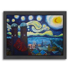 """Americanflat """"Starry Munich"""" Framed Wall Art"""