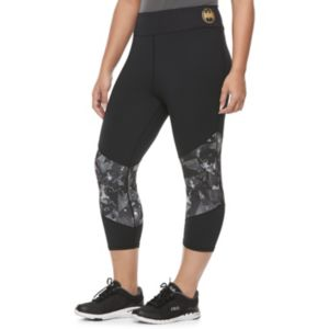 Juniors' Plus Size Her Universe Batman Print Panel Capris by DC Comics