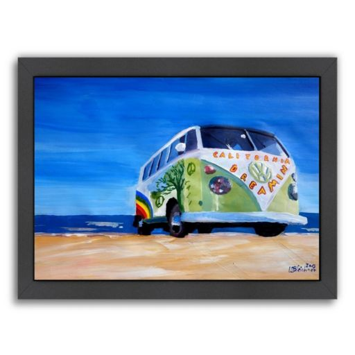 """Americanflat """"The California Dreaming Surf Bus"""" Framed Wall Art"""