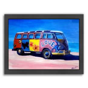 "Americanflat ""The Love Surf Bus"" Framed Wall Art"