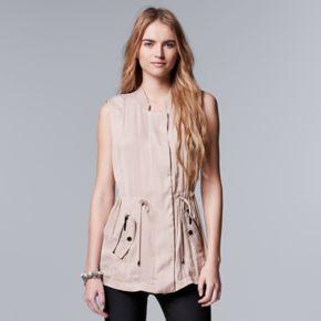 Women's Simply Vera Vera Wang Trapunto Utility Vest