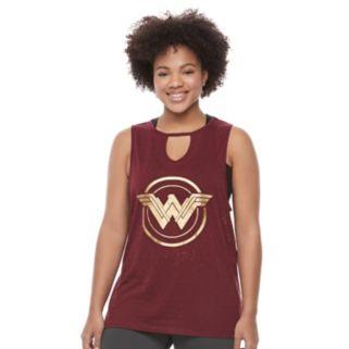 Juniors' Plus Size Her Universe Wonder Woman Shield Graphic Tank by DC Comics