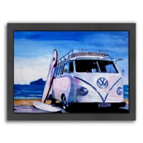 "Americanflat ""The Series: The White Bus"" Framed Wall Art"
