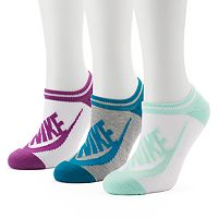 Women's Nike 3 pkStriped No-Show Socks