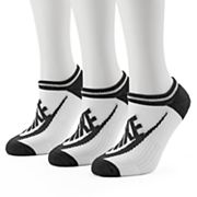 Women's Nike 3 pkStriped No-Show Socks