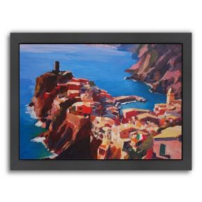 "Americanflat ""Vernazza Cinque Terre"" Framed Wall Art"