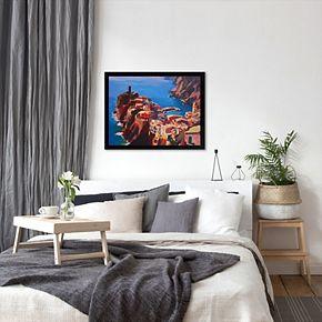 "Americanflat ""Vernazza Cinque Terre"" Framed Wall Art"