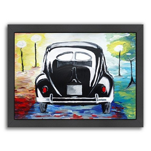Americanflat VW Bug Split Window Framed Wall Art