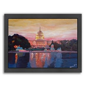 "Americanflat ""Washington Capitol 1"" Framed Wall Art"