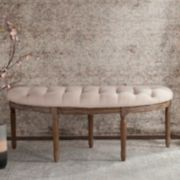 Safavieh Tufted Semi-Circle Round Bench