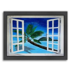 "Americanflat ""Window To Paradise"" Framed Wall Art"