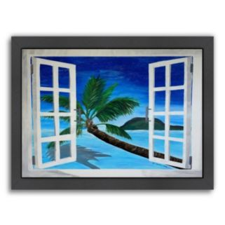 """Americanflat """"Window To Paradise"""" Framed Wall Art"""