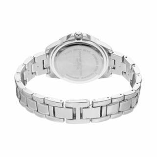 Vivani Women's Stainless Steel Watch & Crystal Bracelet Set