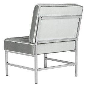 Safavieh Chrome Finish Tufted Accent Chair