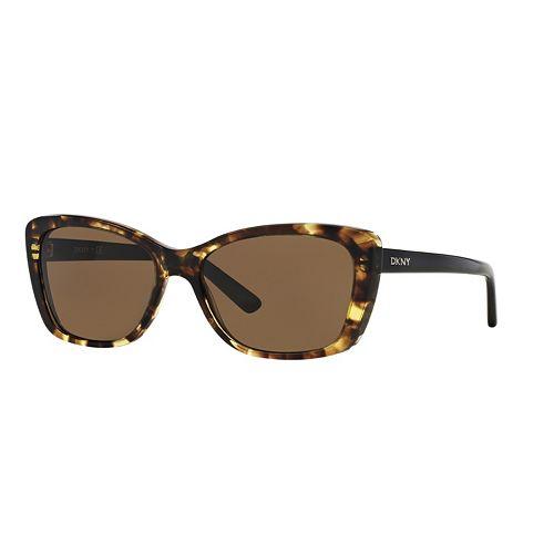 DKNY Downtown Edge DY4130 57mm Cat-Eye Sunglasses