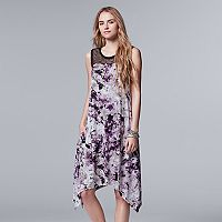 Women's Simply Vera Vera Wang Floral Lace Handkerchief Dress