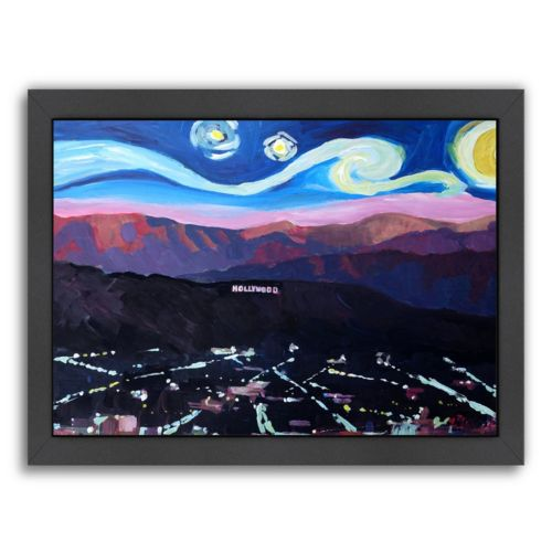 """Americanflat """"Starry Night in Hollywood Van Gogh Inspirations"""" Framed Wall Art"""